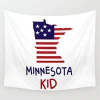 minnesota Wall Tapestries featuring Minnesota Kid by raineon