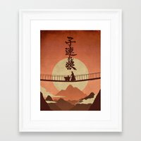 okami Framed Art Prints featuring Kozure Okami by WITHSTAND