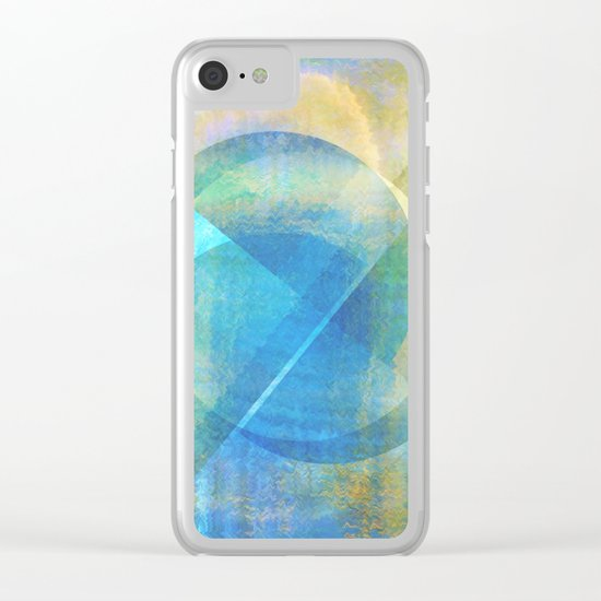 Abstract NC 02 Clear iPhone Case