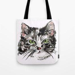 KITTY LOVE Grey kitty Tote Bag