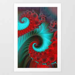 fractal spirals and colors -15- Art Print