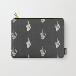 Fuck you middle finger skull ugly Christmas Carry-All Pouch