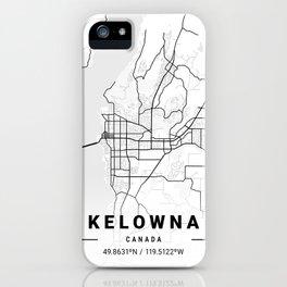 Kelowna Light City Map iPhone Case
