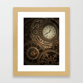 Steampunk Clockwork Framed Art Print