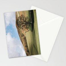 Sunlit tree and hillside. Edale, Derbyshire, UK. Stationery Cards