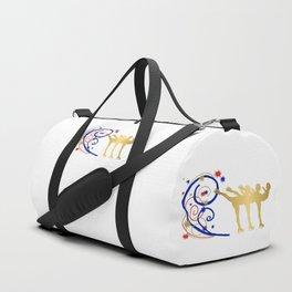 Gold Silhouette Synchro Team Graphic Design Duffle Bag
