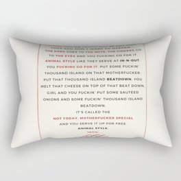 Animal Style MFM Rectangular Pillow
