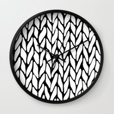 Hand Knitted Wall Clock