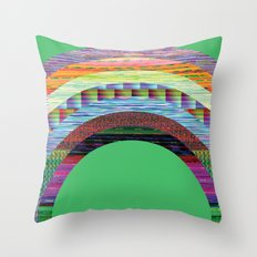 glitchbow Throw Pillow