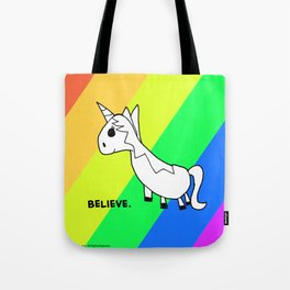 Believe in Unicorns - Art by Child Tote Bag