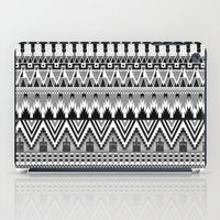 whisky iPad Cases featuring WHISKY AZTEC B/W  by Kiley Victoria