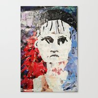 les miserables Canvas Prints featuring LES MISERABLES by JANUARY FROST