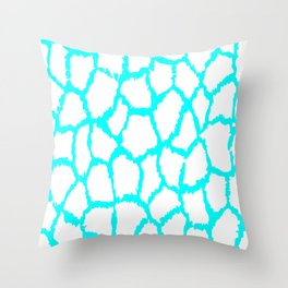 Spot Pattern White Light Blue Speckled Throw Pillow