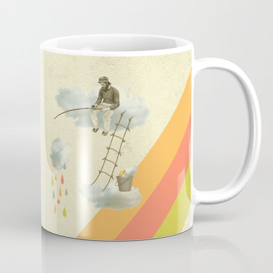 The fisherman who was cleaning the sky from the clouds Coffee Mug