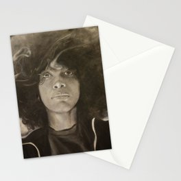 Erykah Badu in Charcoal Stationery Cards