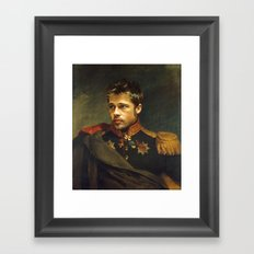 Brad Pitt - replaceface Framed Art Print