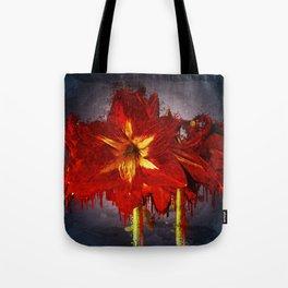 Amaryllis Blossom Flowers Watercolor Artwork Tote Bag