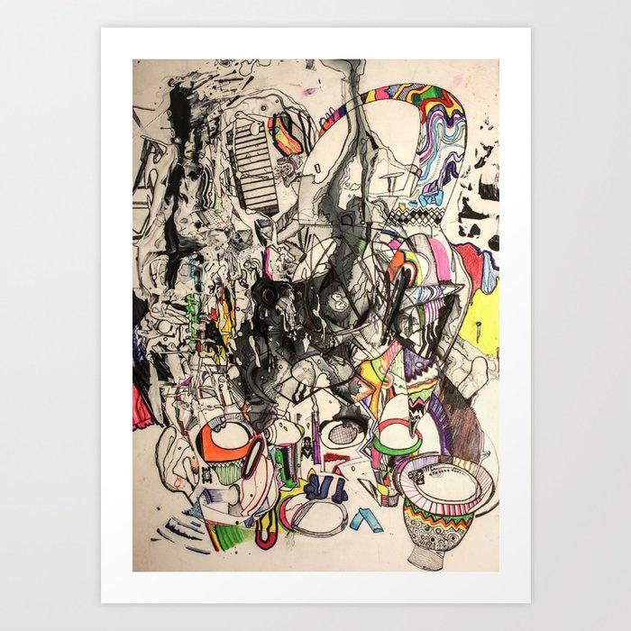 Shaman Ghost Drummer Art Print