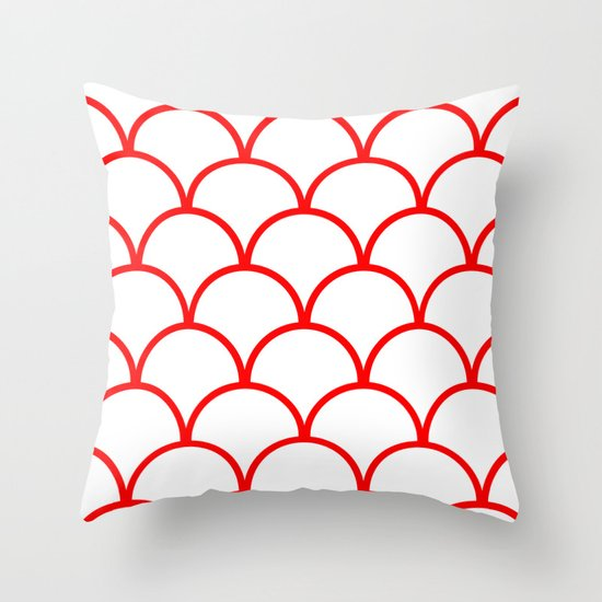 SCALES&RED Throw Pillow
