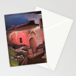 Valley of the Temples, Sicily Ruins of the Greek Amphitheater by Csontvary Kosztka Tivadar Stationery Cards