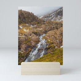 Winter in Snowdonia, Wales Mini Art Print