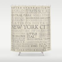 nyc Shower Curtains featuring NYC by Steph Snyder