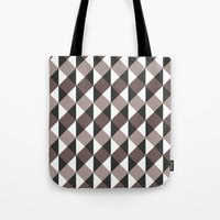 gray pattern Tote Bags featuring Pattern Gray by Sonia Marazia