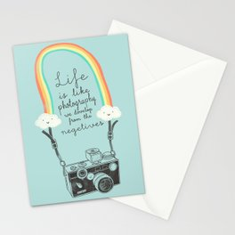 Life is like Photography Stationery Cards