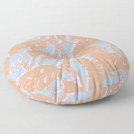 Contrast Palms Floor Pillow