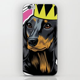 Black and tan female dachshund head iPhone Skin