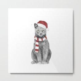 Xmas cat Metal Print