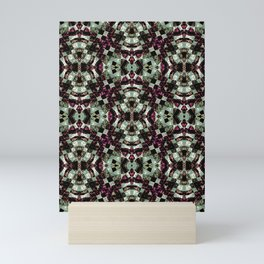 Geometric Abstract Grunge Pattern Mini Art Print