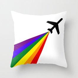 Rainbow Air Throw Pillow