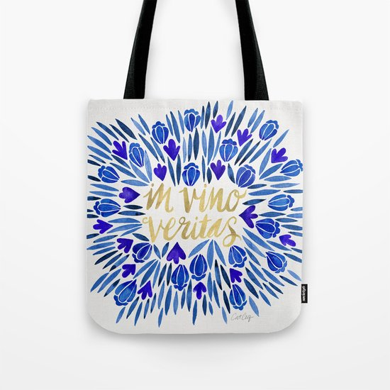In Wine, There is Truth – Navy & Gold Tote Bag