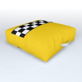 NY Taxi Cab Cosplay Outdoor Floor Cushion