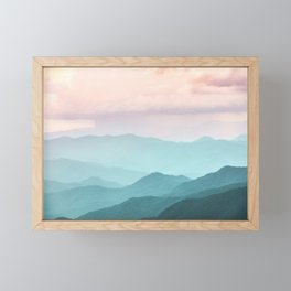 Smoky Mountain National Park Sunset Layers II - Nature Photography Framed Mini Art Print