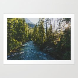 Morning at Agnes Creek - Pacific Crest Trail, Washington Art Print