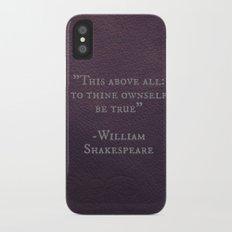 Brave Purple Heart iPhone X Slim Case