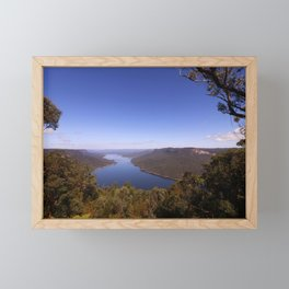 Burragorang Lookout Landscape Framed Mini Art Print