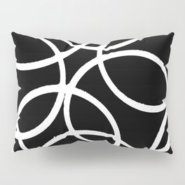 Interlocking White Circles Artistic Design Pillow Sham