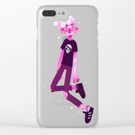 pink lars Clear iPhone Case