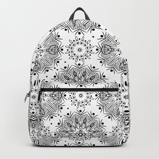 Black and white abstract pattern . 15 Backpack