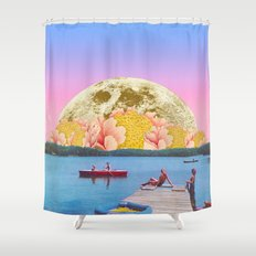 Pink lake Shower Curtain
