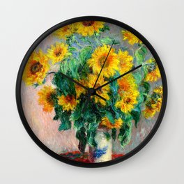 Bouquet of Sunflowers Wall Clock