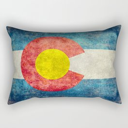 Grungy Colorado Flag Rectangular Pillow