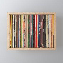Record Collector Framed Mini Art Print