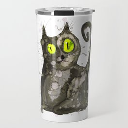 Big fat black cat Travel Mug