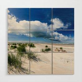 Grenen Beach Panorama Wood Wall Art