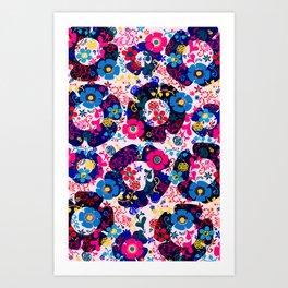 Pink Whimsy  Pattern Art Print