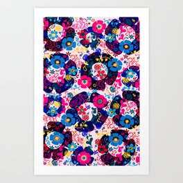 Pink Whimsy  Pattern Art Print